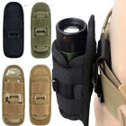 Outdoor Flashlight Pouch Molle Bag Army Bag 360 Degrees Flashlight Holster US