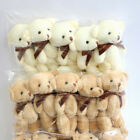 10Pcs/Lot Mini Teddy Bear Dolls Small Gift for Party Wedding With Bow-knot