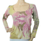 Roberto Cavalli Class Women's Pink Shirt Embellished Made in Italy $255
