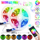 13FT Flexible 5050 RGB LED SMD Strip Light Remote Fairy Lights Room TV Party Bar
