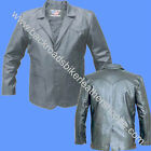 MENS 3 BUTTON LEATHER DRESS BLAZER COAT SUIT JACKET NWT