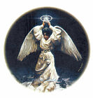 Ceramic Decals African American Angel Halo Raised  Guardian