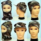 Mens Army Style Camouflage Hats (3 TYPES) (FREE P&P)