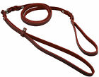 """Slip Leash Genuine Leather Lead and Collar system 54"""" Long 3/8"""" Wide Medium Dogs"""