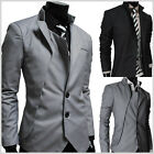 (NJK) Mens unbalance 2 button china collar jacket
