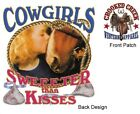 COWGIRLS, SWEETER THAN KISSES, Horses, New White T-shirt S -2 XL