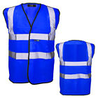 Royal BLUE High Vizibility Waistcoat XL Hi Vis SAFETY Vest