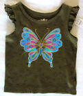 New 12 24 Mo Childrens Place Green Blue Butterfly Shirt