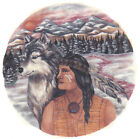 Ceramic Decals Native American Brave and Wolf Scene image