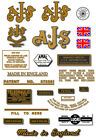 1953-54: 7R,16,16C,16S,16CS,18,18C,18S,18CS -AJS DECALS