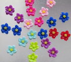 BUY 1 GET 1 FREE - 20 RESIN CABOCHONS 12MM FLOWER PINK/PURPLE/RED MIX - DY