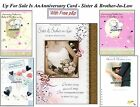 Anniversary Card To Sister And & Brother-In-Law Free P&P UK Mainland Offer Sale