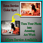 COLOR SPOT YOUR PHOTO ON CANVAS EXTRA SERVICE ONLY 4 U!