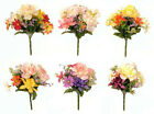 Peony Dahlia Daisy Posy Silk Artificial Flowers Wedding Memorial