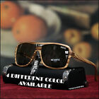 NEW MENS 80'S AVIATOR SUNGLASSES SPROTS VINTAGE SQUEARE MATTE COLOR FRAME SHADE