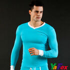 NEW SEXY Mens Tight Smooth Thermal Warm Underwear T-shirt Tops 5Color Size S M L