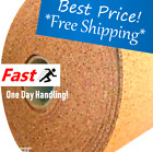 "4' WIDE (BY THE FOOT) 1/4"" THICK ONE CORK ROLL CHOOSE SIZE bulletin board sheet"