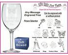 Engraved Wine Glass Nan - Gran -Nana - Mother's Day Gift/ Present Mothers Day