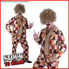 Fancy Dress Costume PATCHWORK GROOVY GUY 1970s DISCO SUIT