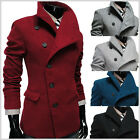 (AJK) THELEES Mens nwt Casual Unbalance High neck Slim Coat