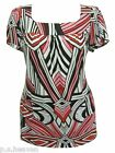 MULTI STRIPE PRINT TOP - LADIES PLUS SIZE 16,18,20,22/24,26/28,30/32