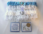 Wedding Garter With Lucky Sixpence and Something Blue Poem