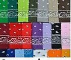 PAISLEY BANDANAS- VARIOUS COLOURS-BIKER-COWBOY/COW GIRL-NECK SCARF-HEADBAND