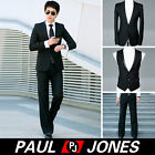 1pcs Business Men's Slim Fit Stylish Formal dress suits Blazer Vest Pants PJ