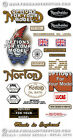 1949-70 Norton Dominator - FULL DECAL SETS - Variations for all Models