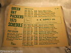 """Vintage GreenBay Packers 1975 Schedule Poster 14"""" by 11"""""""