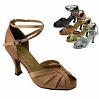 "Women's Salsa Ballroom Tango Latin Dancing Dance Shoes 2.5 / 3"" Very Fine 2713"