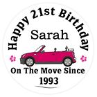 Personalised Mini 18th, 21st, 50th, 60th etc Birthday Gift Drinks Coaster | Mat