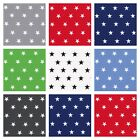 STARS - 100% FINE COTTON POPLIN FABRIC per m CHOOSE YOUR COLOR children nursery