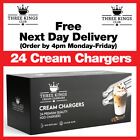 Cream Chargers Nitrous Oxide N2O Canisters + Whippers Option Whip, Foam & Infuse <br/> Best Prices on eBay - Free DPD Delivery ✔