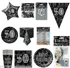 Black Silver 50th Birthday Party Items Decorations One Listing PS