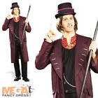 Willy Wonka + Hat Mens Fancy Dress Book Week Character Adults Costume Outfit New