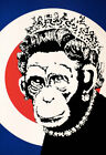 New Poster Print - Banksy: Monkey Queen A3 / A4
