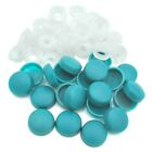TURQUOISE BLUE,TWO PIECE DOME SCREW CAP COVERS SNAP CAPS PRO-DEC FIXINGS