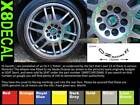 Wheel centre Decal stickers to fit OZ Racing F1 X8 132mm across various colours