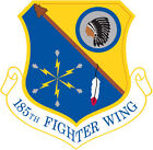 STICKER USAF 185TH FIGHTER WING