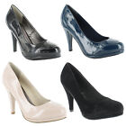 New Ladies Stiletto High Heel Classic Court Sandals Shoes Sizes UK 3 4 5 6 7 8