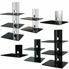 Glass LCD Plasma LED TV Wall Shelf Mount SKY DVD Bracket