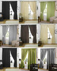 Faux Silk Lined Curtains- Free Tie Backs - CLEARANCE