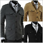 (DJK7) THELEES Mens Single Breasted Slim Fit Stretchy Jacket