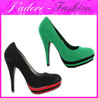 NEW LADIES PLATFORM STILETTO HIGH HEEL CLASSIC COURT SANDALS WOMENS SHOES UK 3-8