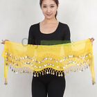 New Belly Dance Hip Skirt Scarf Wrap Belt With 128 Golden Coins Many Colors