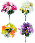 Gerbera Mum / Chrysanthemum Carnation Posy Bouquet Silk Artificial Flowers