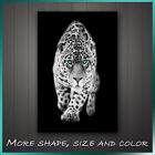 ' Jaguar With Blue Eyes Black & White Style ' Animal Modern Canvas Wall Art Deco