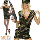 Combat Girl Ladies Military Army Fancy Dress Uniform Costume + Hat UK 8-16