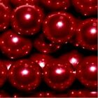 Burgundy Red 4mm 6mm 8mm 10mm Glass Pearl Beads - choice by size